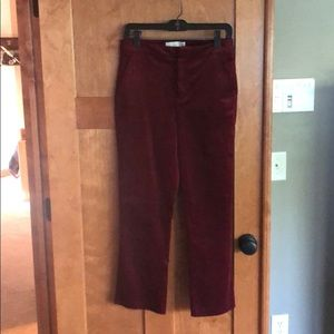 New Burgundy Joie cropped pants